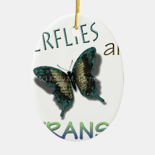 Butterfly Virtues Ceramic Ornament