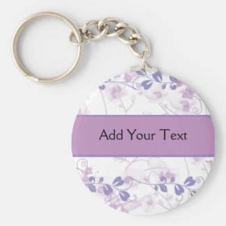 Butterfly Vision in Lilac Purple Basic Round Button Keychain