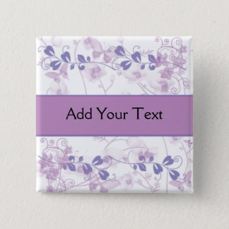 Butterfly Vision in Lilac Purple Button