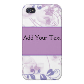 Butterfly Vision in Lilac Purple iPhone 4 Cover