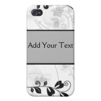 Butterfly Visions in Black and Grey iPhone 4/4S Case