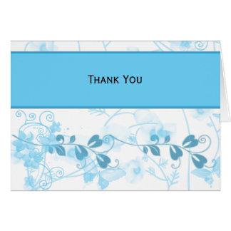 Butterfly Visions in Blue Stationery Note Card
