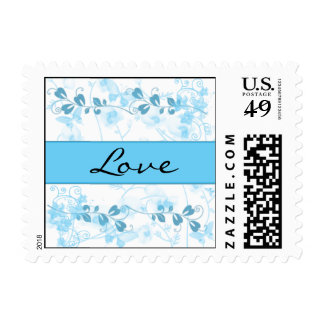 Butterfly Visions in Blue Love Postage Stamp