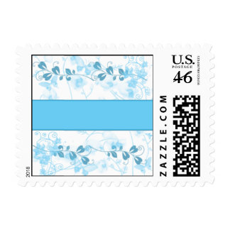 Butterfly Visions in Blue Postage Stamps