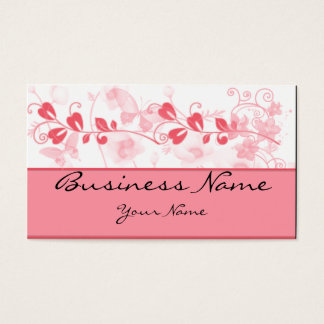 Butterfly Visions in Honeysuckle Pink Business Card