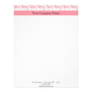 Butterfly Visions in Honeysuckle Pink Letterhead