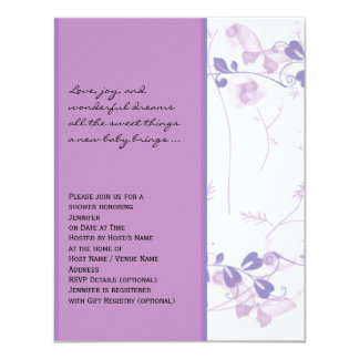Butterfly Visions in Lilac Baby Shower Invitation