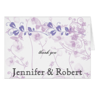 Butterfly Visions in Lilac Thank You Cards