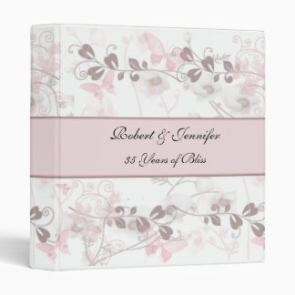 Butterfly Visions in Pink and Mauve Anniversary 3 Ring Binder