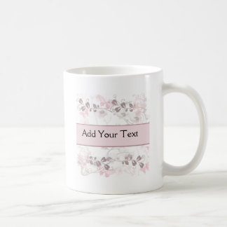 Butterfly Visions in Pink and Mauve Coffee Mug