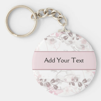 Butterfly Visions in Pink and Mauve Keychain