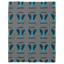 Butterfly/Warrior...Graves' Fleece Blanket