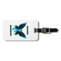 Butterfly/Warrior...Graves' Luggage Tag