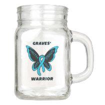 Butterfly/Warrior...Graves' Mason Jar