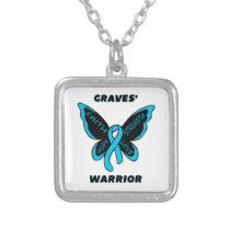 Butterfly/Warrior...Graves' Silver Plated Necklace