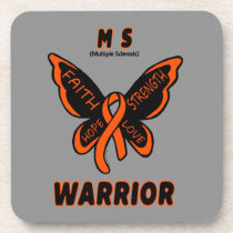 Butterfly/Warrior...MS Beverage Coaster