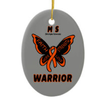 Butterfly/Warrior...MS Ceramic Ornament