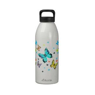Butterfly water bottles