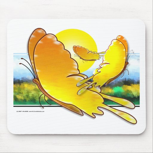 Butterfly Watercolor Mouse Pads