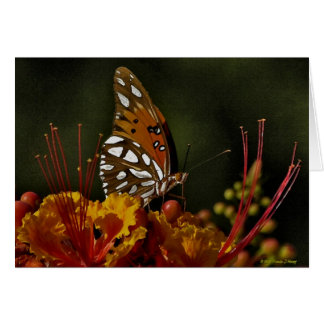 Butterfly Watercolor on Canvas Card