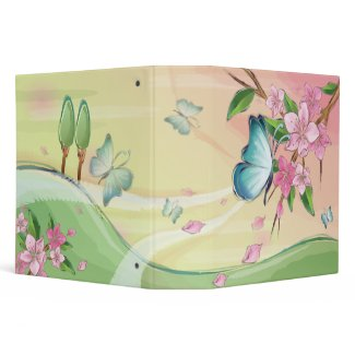 Butterfly Watercolor Painting Binder binder
