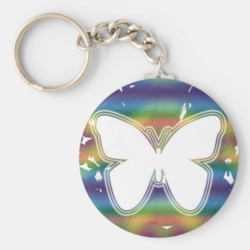 Butterfly waves key chain