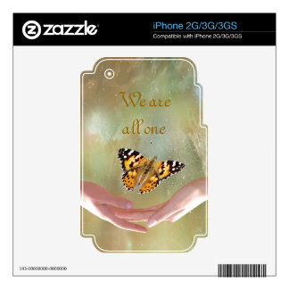 Butterfly we are all one iPhone 3G decal