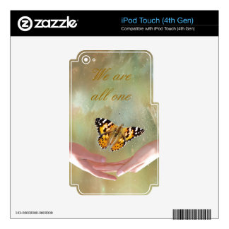 Butterfly we are all one skins for iPod touch 4G