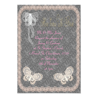 Butterfly Wedding 5x7 Paper Invitation Card