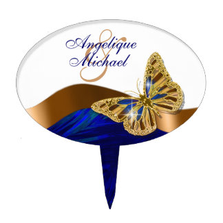 Butterfly wedding birthday engagement anniversary cake topper