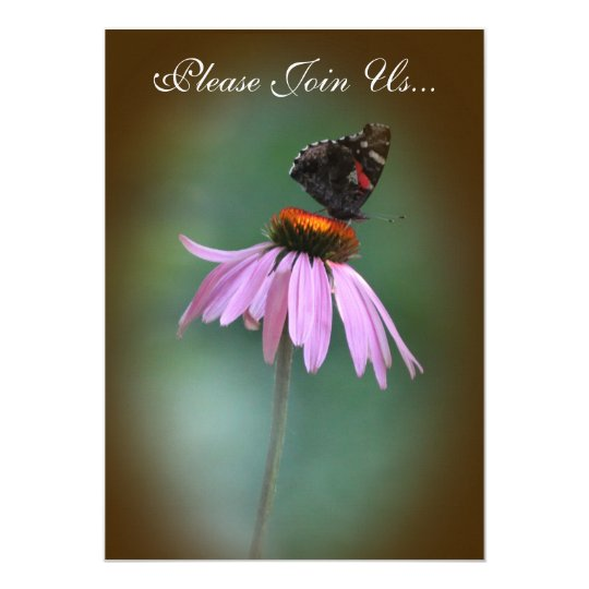 Butterfly Wedding /brown 2 Card
