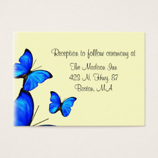 Butterfly Wedding enclosure cards