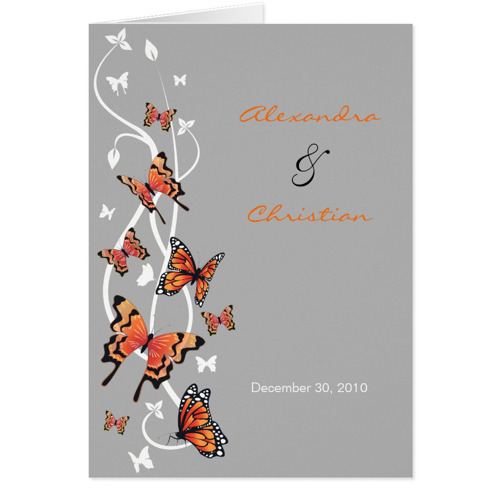 Butterfly Wedding Invitation Announcement Greeting Card