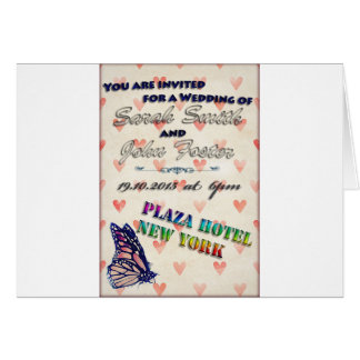 Butterfly Wedding Invitation Greeting Card