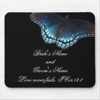 Butterfly Wedding Mouse Pad