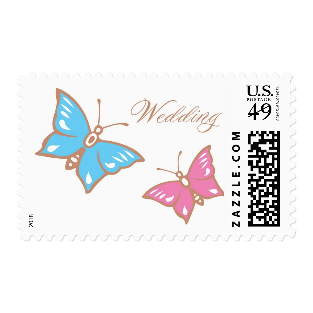 Butterfly Wedding Postage
