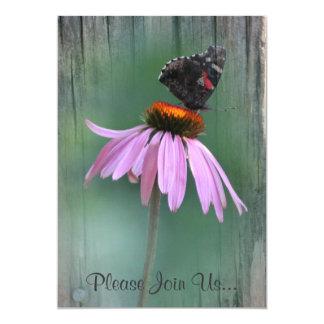 Butterfly Wedding Postwood Gray Card