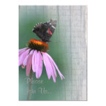 Butterfly Wedding Postwood Gray w/verse 5x7 Paper Invitation Card