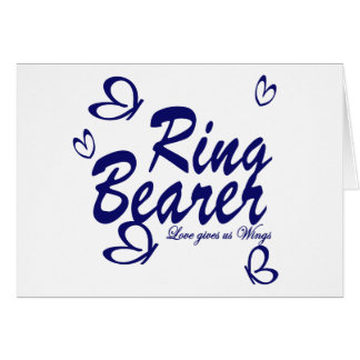 Butterfly Wedding/ Ring Bearer Card