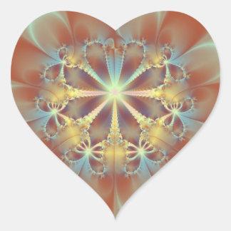 Butterfly Wheel Heart Sticker
