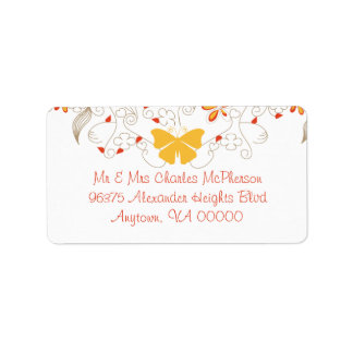 Butterfly Whimsy RSVP Address Labels