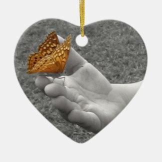 Butterfly Whisperer Ceramic Ornament