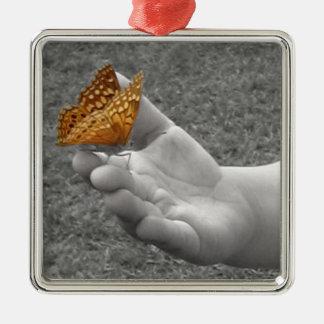 Butterfly Whisperer Metal Ornament