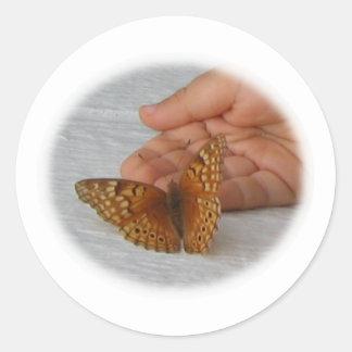 Butterfly Whisperer Round Sticker