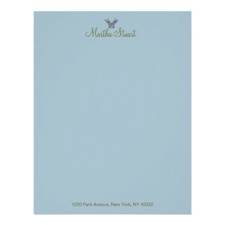 Butterfly Whispers 2 CHANGE COLOR ~ Letterhead