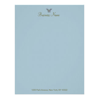 Butterfly Whispers CHANGE COLOR ~ Letterhead