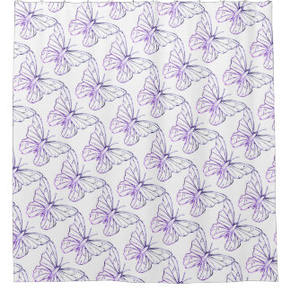 And Purple Butterfly Shower Curtains Zazzle
