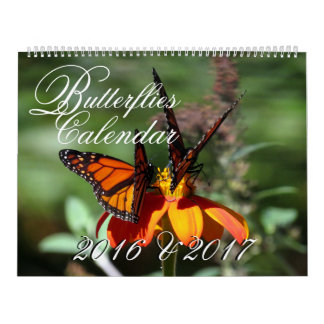 Butterfly Wildlife Flowers Floral 2016 2017 Calendar