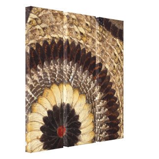 Butterfly Wing African Art Deco Wall Canvases Canvas Print