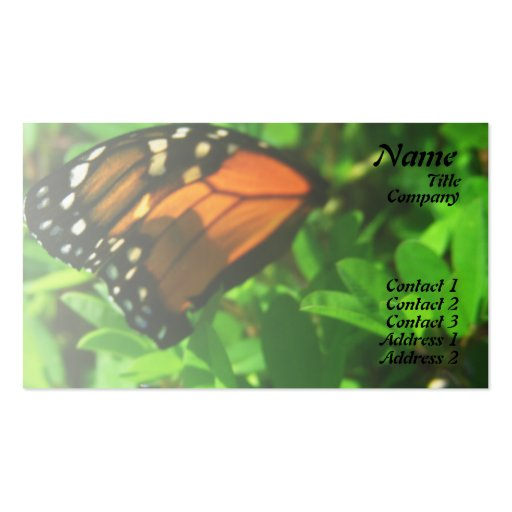 Butterfly Wing Business Card